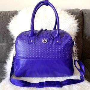 lululemon athletica Bags - Lululemon Athletica Purple Daily Gym Bag / Duffle